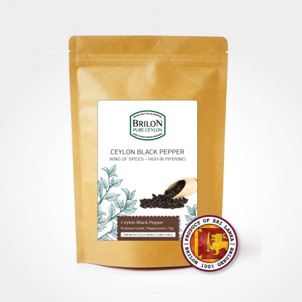 Ceylon Black Peppercorns 70g (Premium Grade)