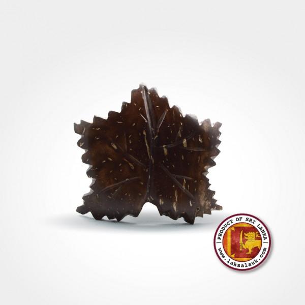 Handicraft Coconut Shell Hair Clip Maple Leaf Design