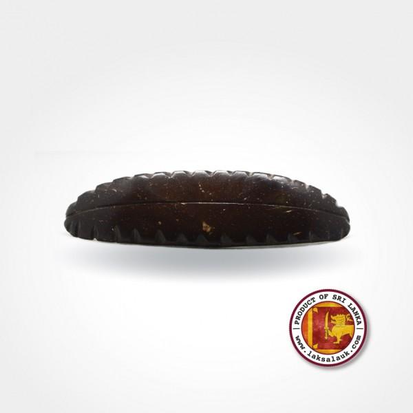 Handicraft Coconut Shell Hair Clip Tea Leaf Design