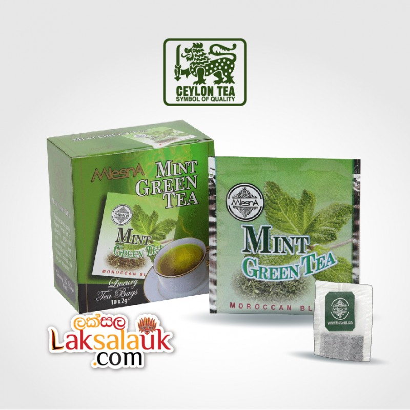 Mlesna Mint  GreenTea 50g - 10 flavoured tea bags (Black Tea)